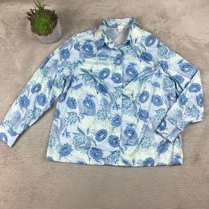 Vintage Button Front Shirt Top Floral